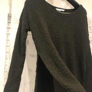 Army green small winter top